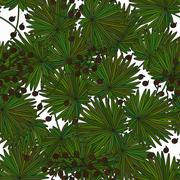 Tropical island seamless pattern. Palm leaves, jungle Piirros