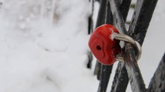 Heart-shaped lock, symbol of love Stock Footage