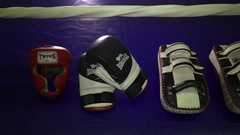 Accessories boxing Stock Footage