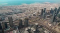 Dubai downtown and Persian Gulf, United Arab Emirates HD Footage