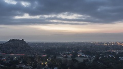 San Fernando Valley Los Angeles Morning Clouds Time Lapse with Zoom Out Stock Footage