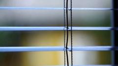 Jalousie on the window Stock Footage