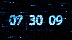 Chaotic change the clock. The countdown on the computer screen Stock Footage