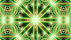Rotating  Rays Neon Kaleidoscope  -   Abstract  Video Footage Stock Footage