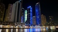 Dubai Marina night zoom time lapse, United Arab Emirates HD Footage