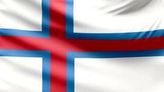 Realistic beautiful Faroe Islands flag 4k Stock Footage