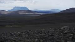 Timelapse in desert near Askja, in central Iceland Stock Footage