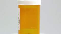 Pill Bottle on white BG Stock Footage