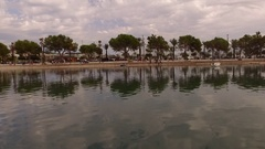Yahts in port D'Alcudia  Stock Footage