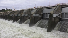 CALIFORNIA rain pan left from the dam Stock Footage