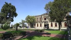 Chapultepec castle garden, park - Mexico City, Mexico Stock Footage