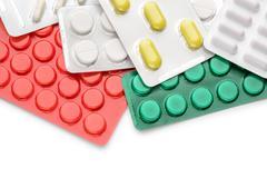 Blister of pharmaceutical pills Stock Photos