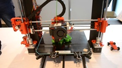 Printing 3d printer general form Stock Footage