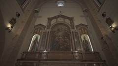 Italian church in Pietrelcina, Padre Pio's town Stock Footage