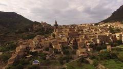 Valldemossa village in the Mountains. Stock Footage