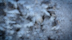 The Patterns Of Frost On The Glass Of The Window. Stock Footage
