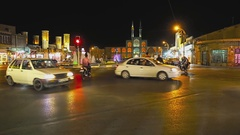 Yazd by night Stock Footage