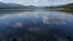 Fixed shot of ricochets on a lake in Norway Stock Footage