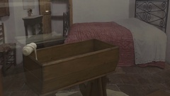 Saint Padre Pio's relic in Pietrelcina, Italy at the museum Stock Footage