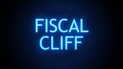 Forboding Political Text -Fiscal Cliff Glitching Stock Footage