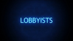 Forboding Political Text - Lobbyists Glitching Stock Footage