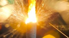 Firework sparkler burning Stock Footage
