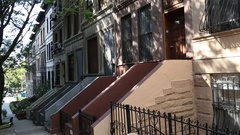 Wide Shot of New York Street Stock Footage