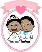 African american couple wedding Piirros