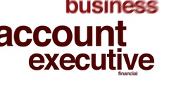 Account executive animated word cloud. Stock Footage