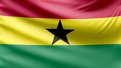 Realistic beautiful Ghana flag 4k Stock Footage