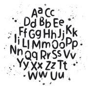Hand drawn letters. Alphabet Stock Illustration