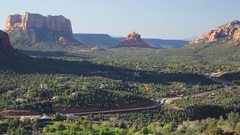 Arizona Highway 179 near Sedona Stock Footage