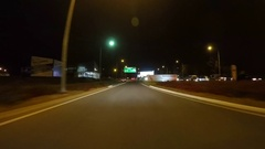 Automobile POV driving along Airport Road from Sir Donald Bradman Drive to the A Stock Footage