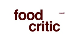 Food critic animated word cloud. Stock Footage