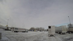 Busy Truck Stop Time Lapse | Billings, Montana, USA | Jan. 2017 Stock Footage