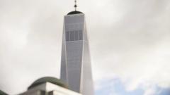 Timelapse Tilt Shift One World Trade Center Stock Footage