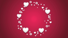 Beautiful hearts St Valentines Day video clip Stock Footage