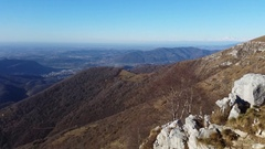 Great landscape on the Orobie Alps  from Linzone Mountain Stock Footage