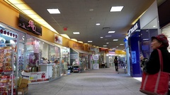 Motion of customer shopping inside shopping mall Stock Footage