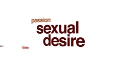 Sexual desire animated word cloud. Stock Footage