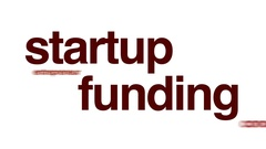 Startup funding animated word cloud. Stock Footage