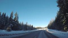 POV Shot | TWT Trucking Overtake | Rural Washington, USA Stock Footage
