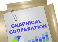 Graphical Cooperation - business concept Piirros