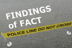 Findings of Fact - criminal concept Stock Illustration