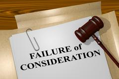 Failure of Consideration - legal concept Stock Illustration