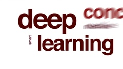 Deep learning animated word cloud. Stock Footage