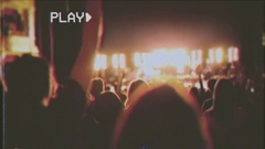 VHS concert ending show audience Stock Footage