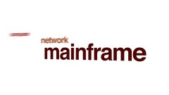 Mainframe animated word cloud. Stock Footage