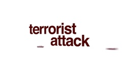 Terrorist attack animated word cloud. Stock Footage