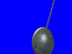 Wrecking Ball On Blue Screen Stock Footage